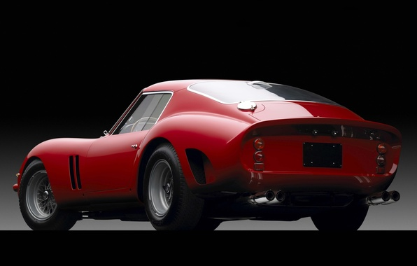 Picture red, Ferrari, Ferrari, supercar, twilight, classic, rear view, GTO, beautiful car, 1962, TRP, 250