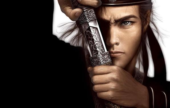 Picture look, sword, warrior, samurai, male, blade