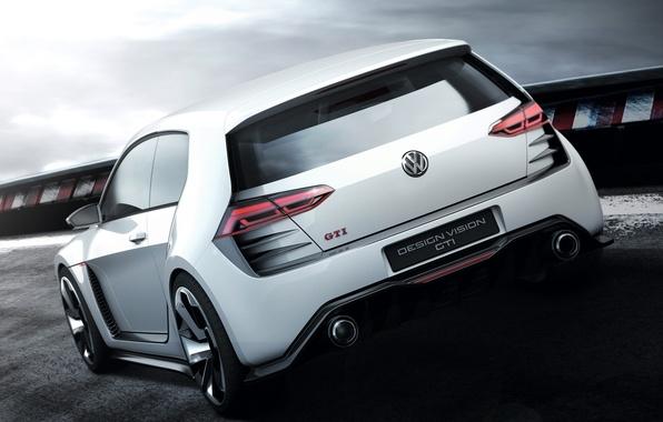 Picture auto, Concept, Volkswagen, rear view, Golf, GTI, Volkswagen, Design Vision