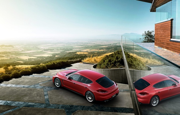 Picture Porsche, horizon, Panamera, Porsche, Panamera, GTS, 2015