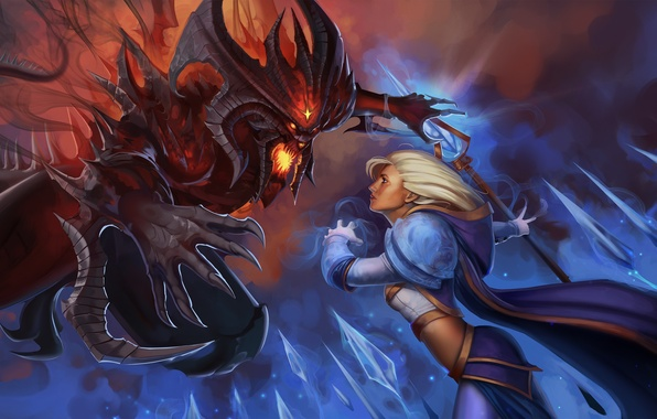 Picture blizzard, warcraft, art, Diablo, Jaina Proudmoore, Heroes of the Storm, moba