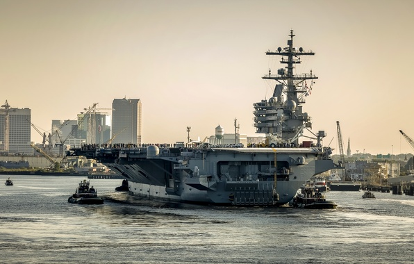 Picture weapons, army, aircraft carrier, USS George H.W. Bush (CVN 77)