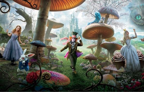 Picture Alice, Alice in Wonderland, Tim Burton