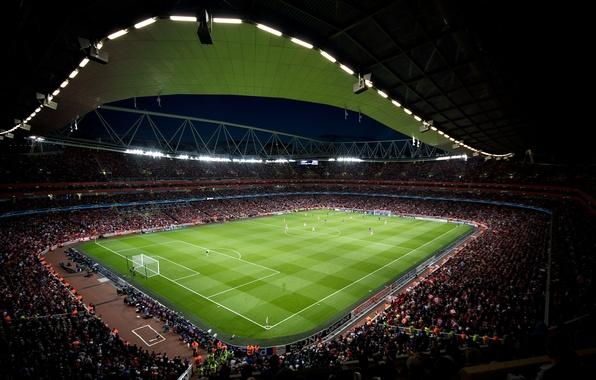Picture Field, Sport, Football, Arsenal, Emirates, Arsenal, Stadium, Stadium, Champions League, Champions League, Tribune, Football Club, …