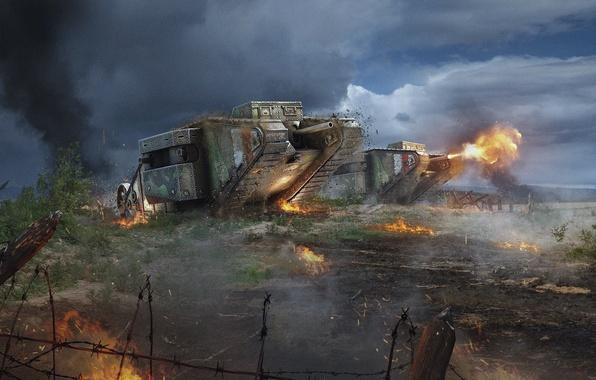 Picture Tanks, WoT, World of Tanks, World Of Tanks, Wargaming Net, Mark 1, Mark 1