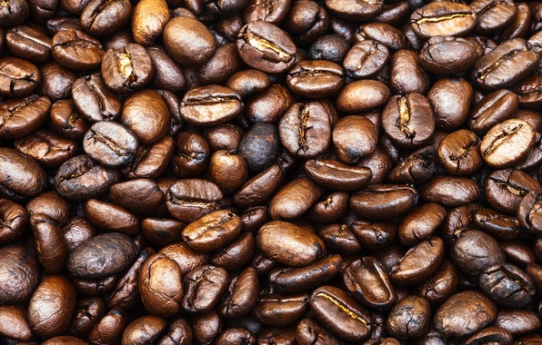 Picture pattern, coffee, coffee beans, whole