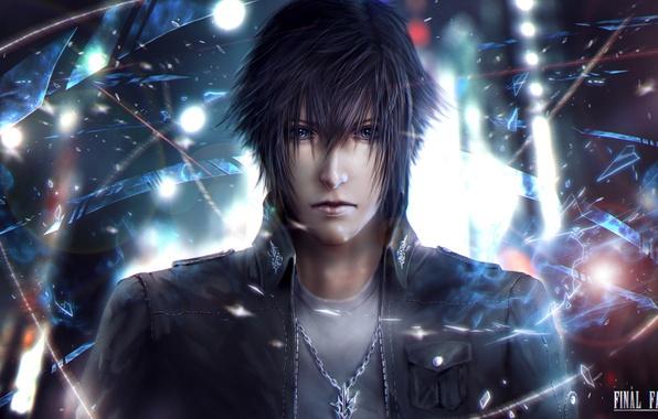 Picture face, guy, Square Enix, final fantasy, art, Final Fantasy XV, Night Light Sky, Noctis