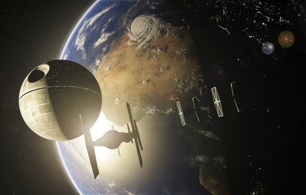 Picture space, planet, star wars, the death star, Death Star