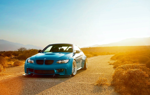 Picture BMW, Sky, Blue, Sunset, E92, Liberty, Walk