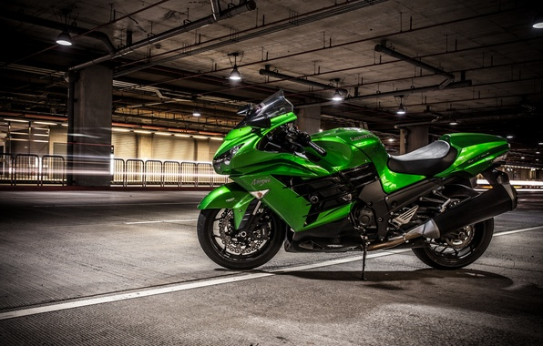 Picture design, background, motorcycle, Kawasaki