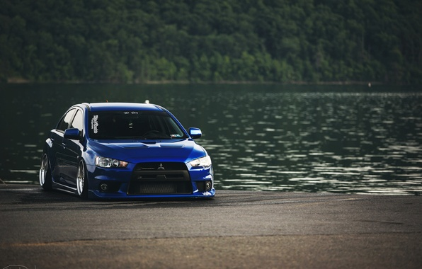 Picture Blue, Desktop, Mitsubishi, Lancer, Evolution, Car, Beautiful, Style, Lancer, JDM, Wallpaper, Automobiles, Evolution, Mitsubishi