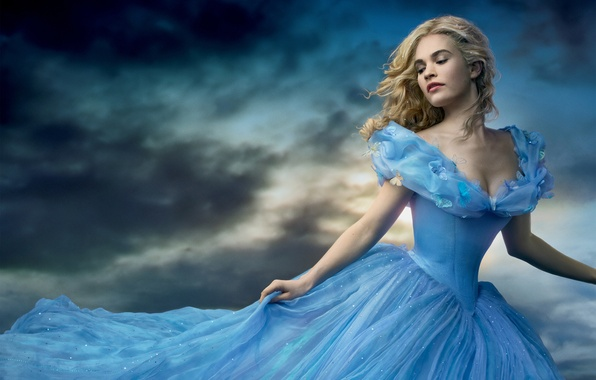 Picture Girl, Light, Fantasy, Sky, Beautiful, Blue, Sun, Cloudy, Wallpaper, Family, Eyes, Blonde, Woman, Cinderella, Year, ...