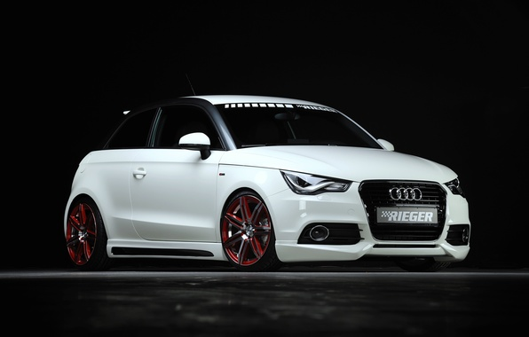 Picture Audi, Audi, tuning, white, 2013, Rieger