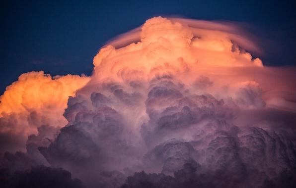 Picture the sky, sunset, paint, cloud, cloud