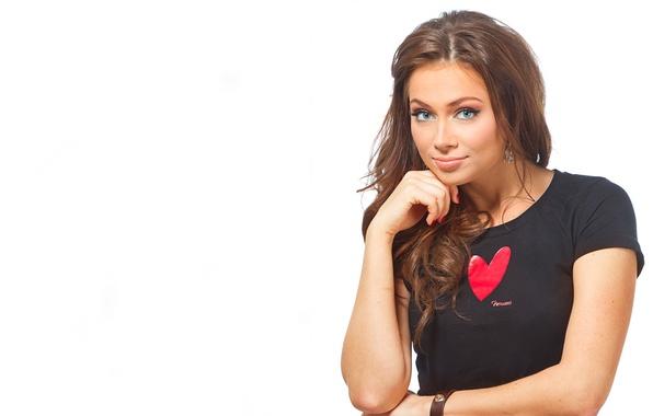 Picture look, heart, white background, Nastasya Samburski