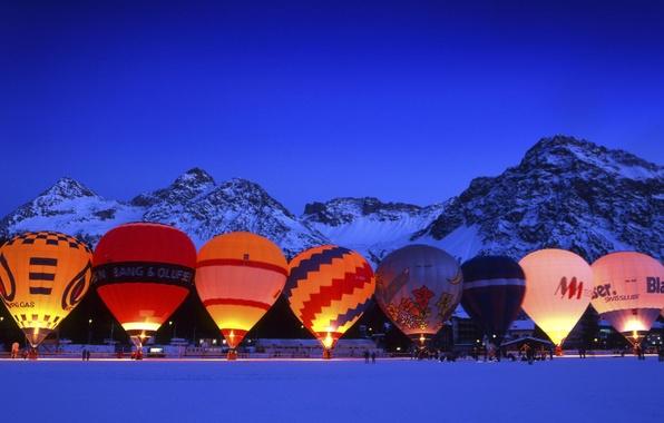 Picture Winter, Switzerland, Balls