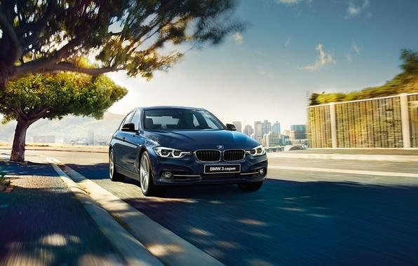 Picture blue, BMW, BMW, sedan, F30, Sedan, 3-Series