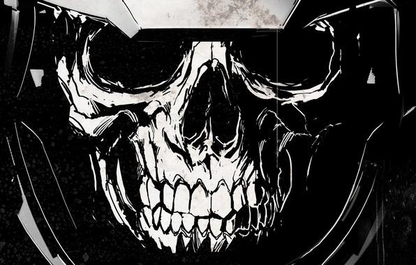 wallpaper skull teeth symbol helmet cod activision