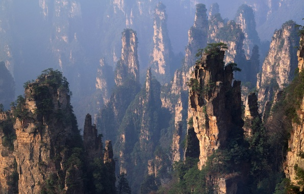 Picture Mountains, Forest, China