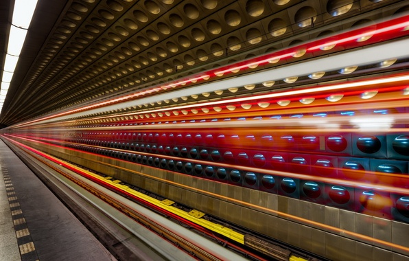 Wallpaper Long Exposure Light Metro Light Trails Prague Images For Deskto