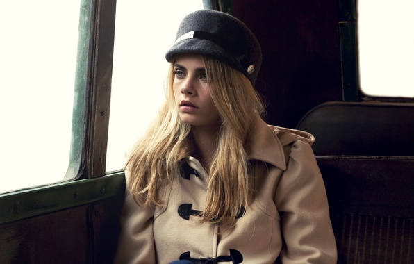 Picture model, coat, Cara Delevingne, Cara Delevingne