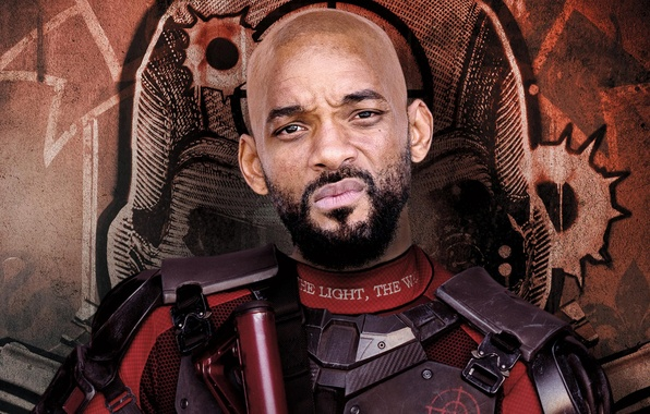 Picture background, costume, beard, action, poster, Will Smith, Will Smith, Deadshot, Suicide Squad, Suicide squad
