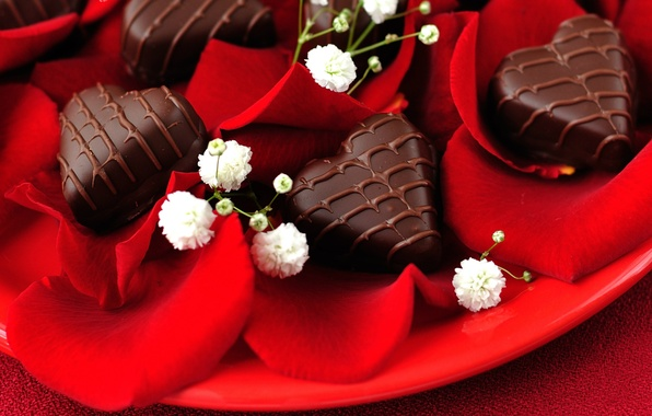 Picture love, holiday, heart, chocolate, roses, heart, candy, love, heart, hearts, chocolate, holiday, roses, candy