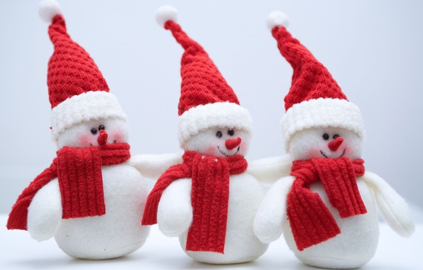 Picture cold, winter, snow, holiday, new year, snowmen, new year, holiday