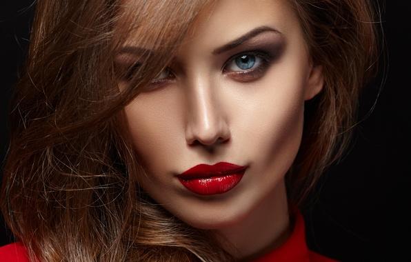Wallpaper Look, Girl, Face, Hair, Makeup, Blouse, Black -8362