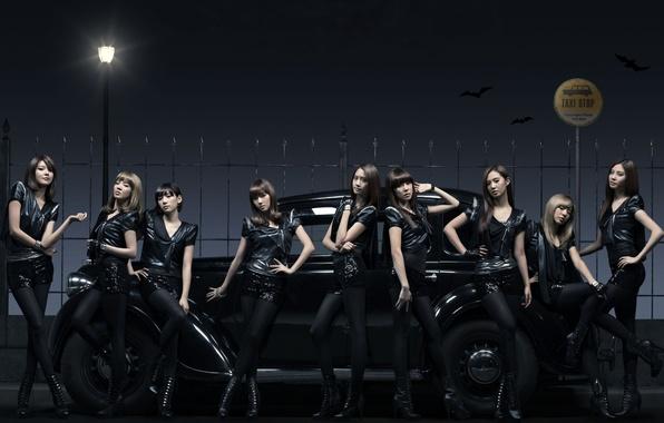 Picture machine, music, girls, group, lantern, taxi, Asian girls, South Korea, SNSD, So Nye Will Shi …