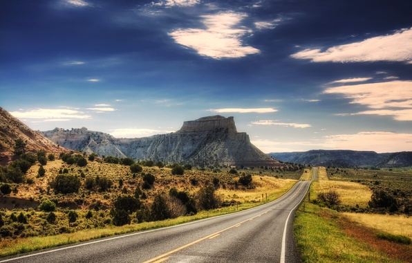 Picture road, mountains, the way, landscapes, mountain