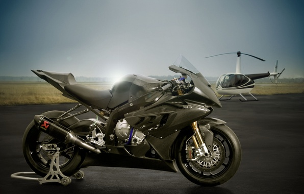 Picture BMW, motorcycle, helicopter, Superbike, sportbike, bmw s1000rr