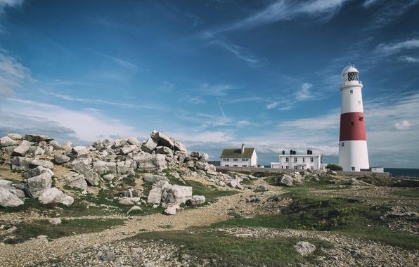 Picture lighthouse, England, Portland, England, Lighthouse, Bill, Dorset, Jurassic Coast