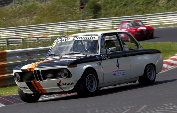 Picture BMW, Turn, Racing track, Motorsport, Race Car, (E10), 02 Series, New Class, 2002 TI, Racing …