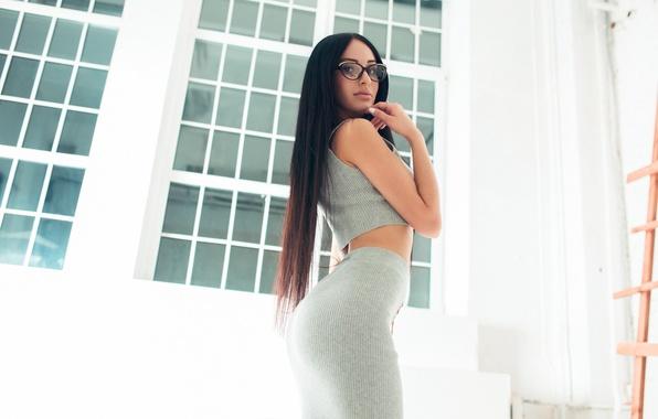 Picture Girl, Beautiful, Ass, Model, Body, White, View, Hair, Katya, Gorokhov