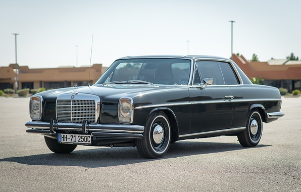 Photo wallpaper style, retro, 250C, Mercedes-Benz, 1971