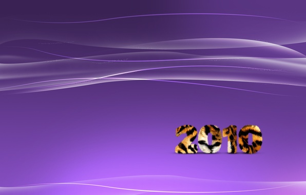 Picture wave, purple, line, tiger, strip, new year, 2010