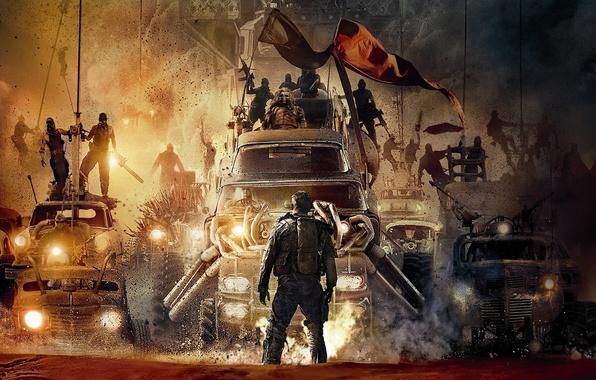 Picture machine, desert, dust, warriors, postapokalipsis, Mad Max, Fury Road, Mad Max, Road rage