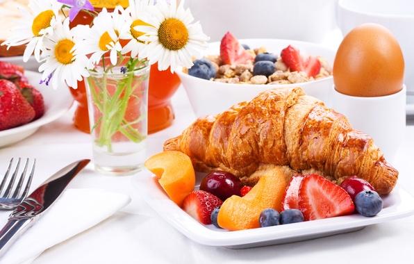 Picture flowers, food, Breakfast, fruit