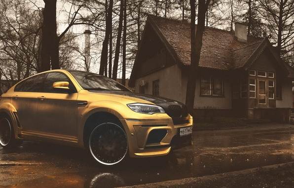 Picture BMW, X6M, yellow matte chrome, hamann tycoon evo m
