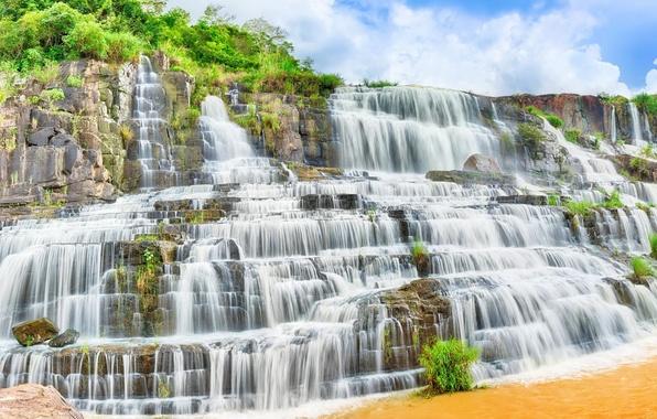Picture water, waterfall, stream, water, waterfall, stream