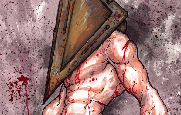 Picture blood, monster, silent hill, silent hill, pyramid head