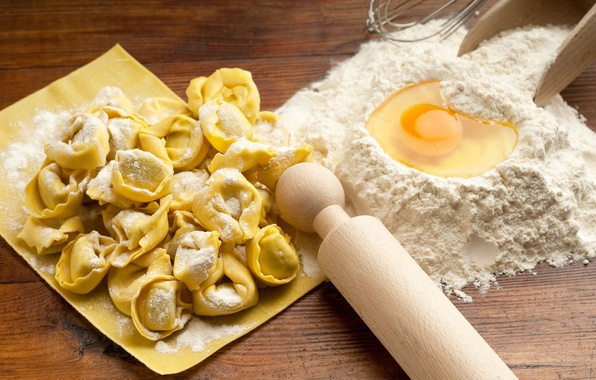 Picture egg, food, flour, the dough, dumplings, rolling pin