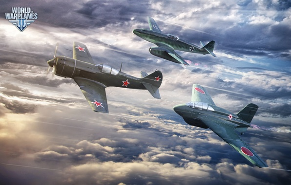 Picture The sky, Clouds, Aircraft, Aviation, Fighters, Wargaming Net, World of Warplanes, World Of Aircraft, WoWP, …