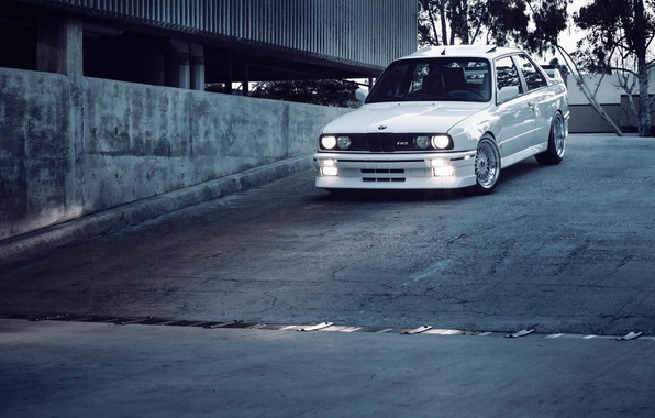 Picture tuning, bmw, BMW, white, E30, stance