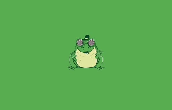 Picture Minimalism, Eyes, Art, Hypnosis, Green Style, Toad