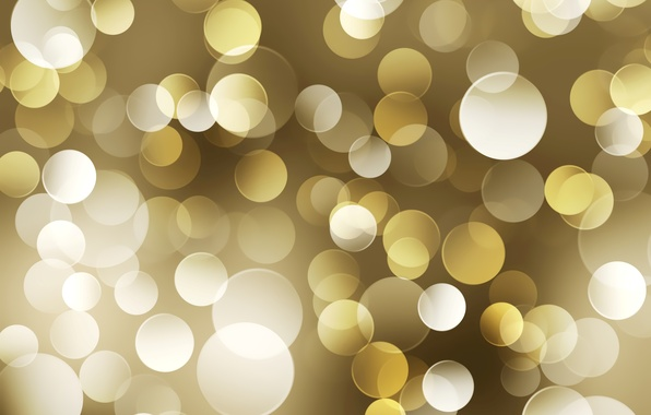 Picture circles, yellow, color, lights, gold