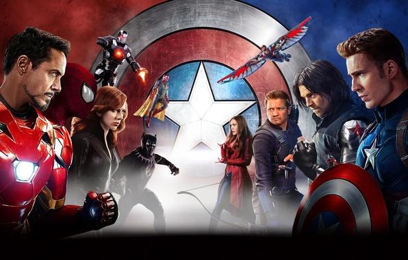 Wallpaper scarlett johansson vision iron man falcon - Avengers civil war wallpaper ...