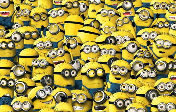 Picture animation, yellow, smile, cartoon, suit, Cyclops, Minions, Despicable Me, uniform, staff, Minion, teeth, Universal Pictures, …