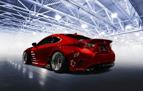 Picture car, red, tuning, Rocket Bunny, Lexus RC-F